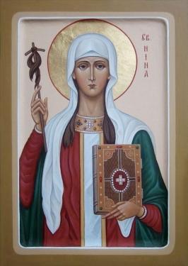 Святая Нина — христианская просветительница Грузии.
